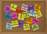 motivational reminders on bulletin board poster