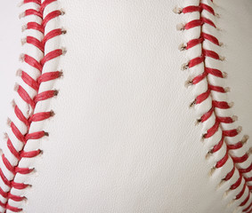 Macro baseball seams