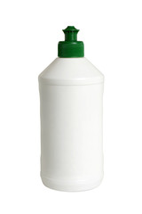 Plastic white bottle
