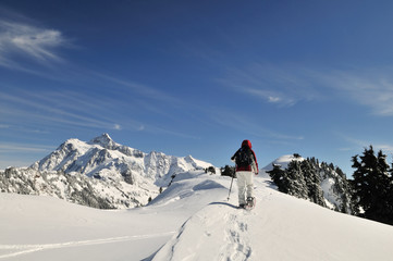 Snowshoeing in Mt Baker - Snoqualmie National Forest