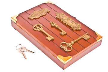 Wooden box and keys