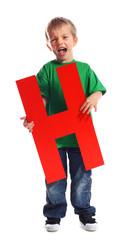 """Letter """"H"""" boy"""
