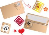 set of mail elements for beloved poster