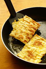Fried matzo for Passover