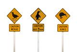 Panneaux de la circulation - New Zealand poster