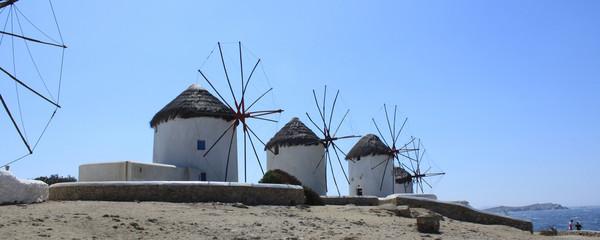 Moulins à vent de Mykonos – Cyclades – Grèce