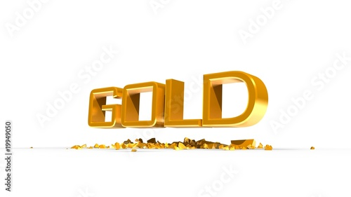 GOLD TYPO WHITE