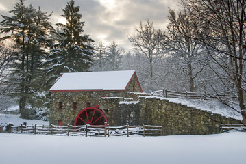 Grist Mill at The Wayside, Sudbury, Massachusetts