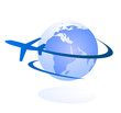 travel the world vector icon