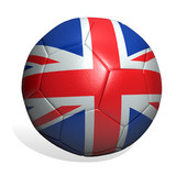 soccer ball great britain poster