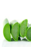 Sliced aloe leaves