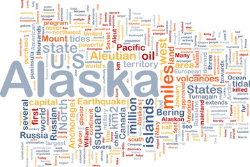 Alaska state background concept