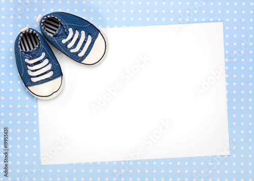 canvas print picture New baby announcement or invite