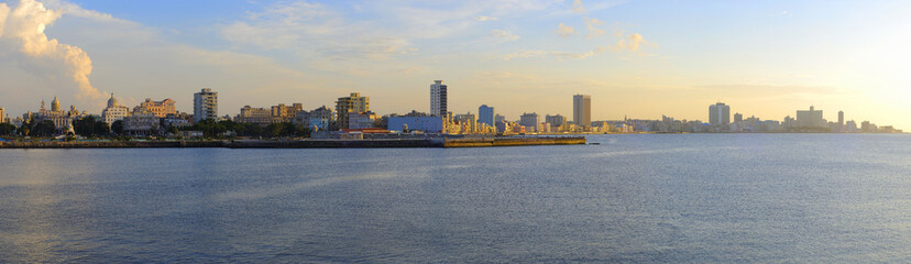 Panoramic view of havana skyline and waterfront