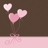 greeting card - heart ballons