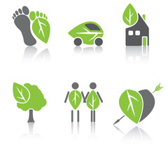 Eco icons of home
