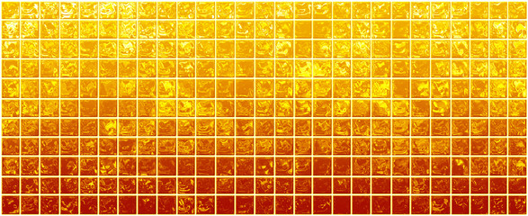 Banner of the iridescent  golden  squares