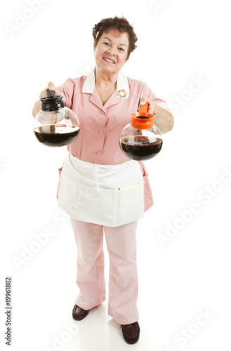 poster of Waitress - Regular or Decaf Coffee