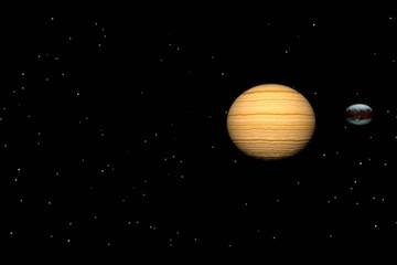 Moon Orbiting Planet