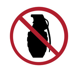 sign - no grenades