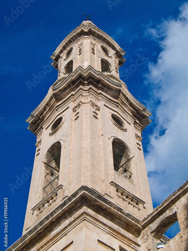 Belltower of St. Leonard convent. Monopoli. Apulia.