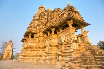 Temple of Khajuraho. india.