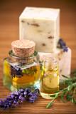 Fototapety Lavande, produits cosmétiques naturels