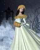 Snow Princess and Fairytale Castle poster