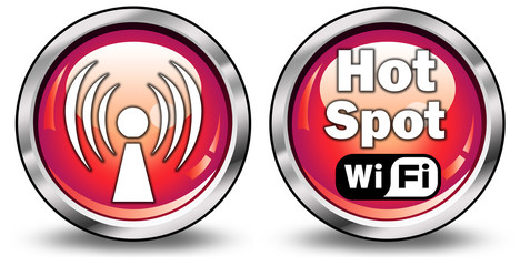"Glossy 3D Style Buttons ""Wi-Fi Hot Spot"""