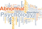 Abnormal psychology background concept poster
