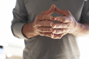 Mature males hands