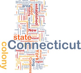 Connecticut state background concept