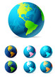 Detaily fotografie Zeměkoule