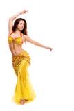 beautiful Bellydancer in golden costume
