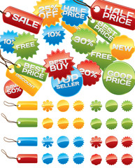Vector business badges mega-pack