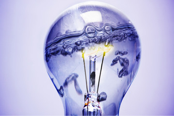light bulb under water, clean Energy!