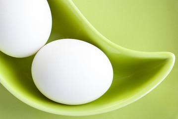 White Eggs in a Green Saucer