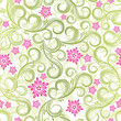 roleta: Seamless spring floral background