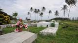 caribbean graveyard corn island nicaragua central america poster