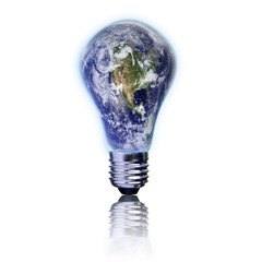 New energy concept - Earth light bulb