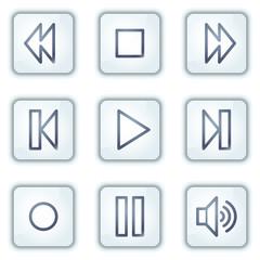 Walkman web icons, white square buttons series