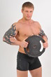 Bodybulder with weights