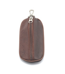 Brown leather purse for keys