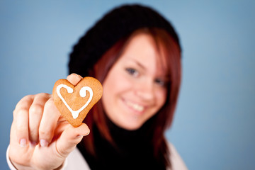 heart cookie for valentine