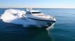 Leinwanddruck Bild - yacht en méditerranée