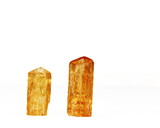 Two orange Imperial Topaz crystals, birthstone for November poster