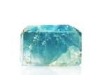 Large natural blue Topaz crystal, birthstone for November poster