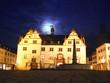 Darmstädter Rathaus im Mondenschein