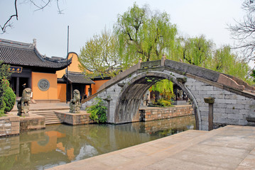 Nanxun village ancient bridge and Buddhist temple