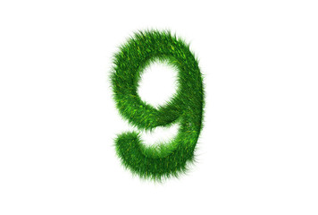 Grüne Nummer 9